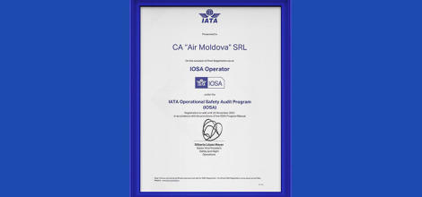 Air Moldova has successfully completed the IOSA...