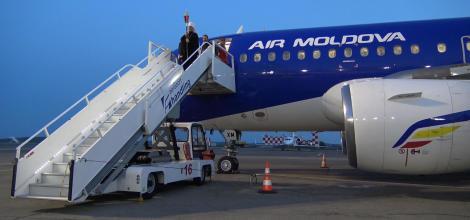 Air Moldova a adus Focul Haric la Chișinău