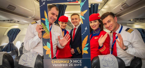 Первый рейс Air Moldova по маршруту Кишинев – Н...